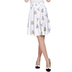 Cactus Pattern A Line Skirt by ValentinaDesign