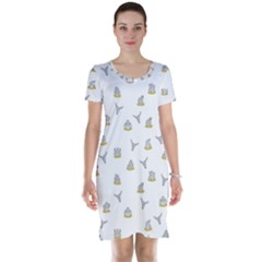 Cactus Pattern Short Sleeve Nightdress by ValentinaDesign