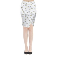 Cactus Pattern Midi Wrap Pencil Skirt by ValentinaDesign