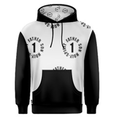 Black And White All Over   one  Men s Pullover Hoodie by 1bodyinchrist