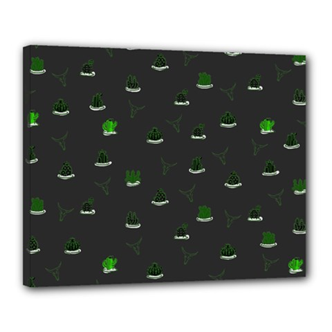 Cactus Pattern Canvas 20  X 16  by ValentinaDesign
