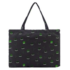 Cactus Pattern Medium Zipper Tote Bag by ValentinaDesign