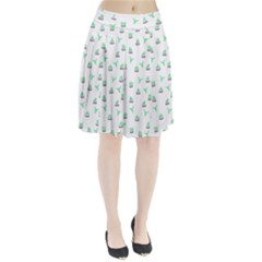 Cactus Pattern Pleated Skirt by ValentinaDesign