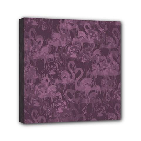Flamingo Pattern Mini Canvas 6  X 6  by ValentinaDesign