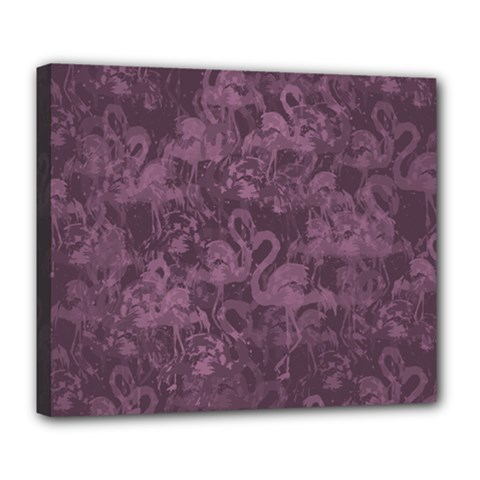 Flamingo Pattern Deluxe Canvas 24  X 20   by ValentinaDesign