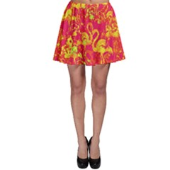 Flamingo Pattern Skater Skirt by ValentinaDesign