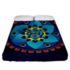 Abstract Mechanical Object Fitted Sheet (queen Size)