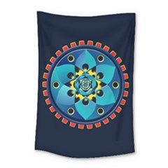 Abstract Mechanical Object Small Tapestry
