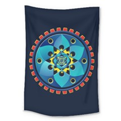 Abstract Mechanical Object Large Tapestry