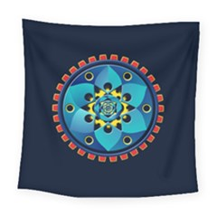 Abstract Mechanical Object Square Tapestry (large)