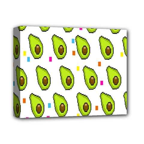Avocado Seeds Green Fruit Plaid Deluxe Canvas 14  X 11  by Mariart