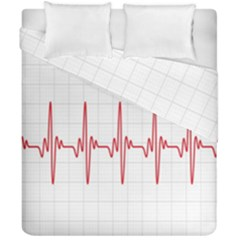 Cardiogram Vary Heart Rate Perform Line Red Plaid Wave Waves Chevron Duvet Cover Double Side (california King Size) by Mariart
