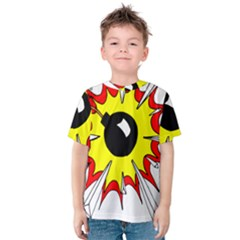 Book Explosion Boom Dinamite Kids  Cotton Tee by Mariart