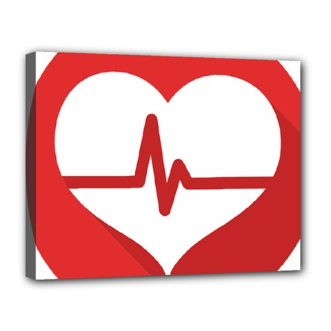 Cardiologist Hypertension Rheumatology Specialists Heart Rate Red Love Canvas 14  X 11  by Mariart
