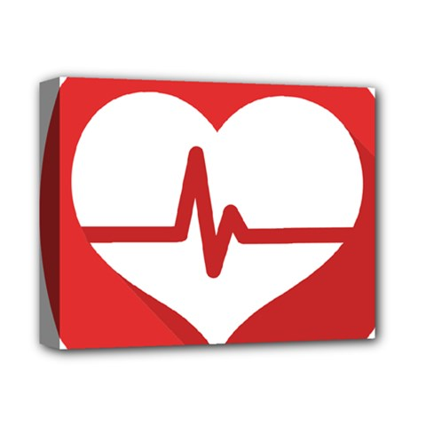 Cardiologist Hypertension Rheumatology Specialists Heart Rate Red Love Deluxe Canvas 14  X 11  by Mariart