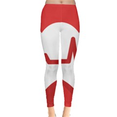 Cardiologist Hypertension Rheumatology Specialists Heart Rate Red Love Leggings  by Mariart