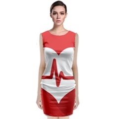 Cardiologist Hypertension Rheumatology Specialists Heart Rate Red Love Classic Sleeveless Midi Dress