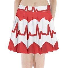 Cardiologist Hypertension Rheumatology Specialists Heart Rate Red Love Pleated Mini Skirt by Mariart
