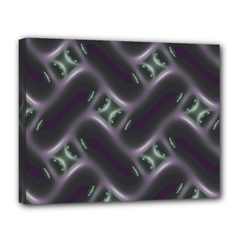 Closeup Purple Line Canvas 14  X 11  by Mariart