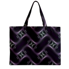 Closeup Purple Line Zipper Mini Tote Bag by Mariart