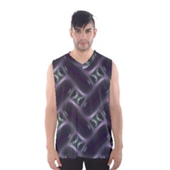 Closeup Purple Line Men s Basketball Tank Top by Mariart