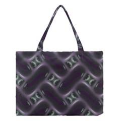 Closeup Purple Line Medium Tote Bag by Mariart