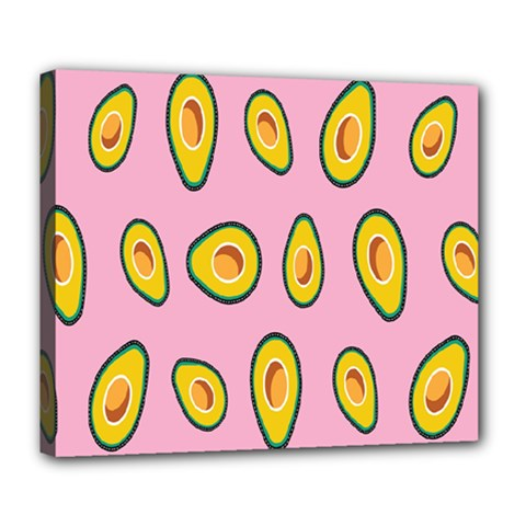 Fruit Avocado Green Pink Yellow Deluxe Canvas 24  X 20   by Mariart