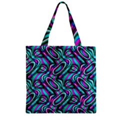 Circle Purple Green Wave Chevron Waves Zipper Grocery Tote Bag by Mariart