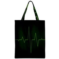 Heart Rate Green Line Light Healty Zipper Classic Tote Bag by Mariart
