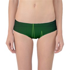 Heart Rate Green Line Light Healty Classic Bikini Bottoms by Mariart