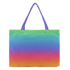 Plaid Rainbow Retina Green Purple Red Yellow Medium Tote Bag by Mariart