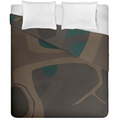 Tree Jungle Brown Green Duvet Cover Double Side (california King Size) by Mariart