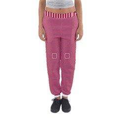 Stop Already Hipnotic Red Circle Women s Jogger Sweatpants by Mariart