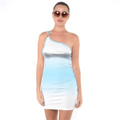 Decorative Pattern One Soulder Bodycon Dress