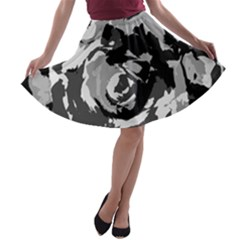 Abstract art A-line Skater Skirt by ValentinaDesign