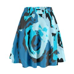 Abstract Art High Waist Skirt by ValentinaDesign