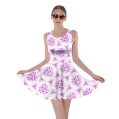 Sweet Doodle Pattern Pink Skater Dress