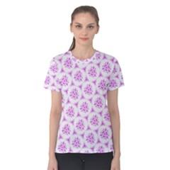 Sweet Doodle Pattern Pink Women s Cotton Tee