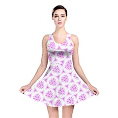 Sweet Doodle Pattern Pink Reversible Skater Dress