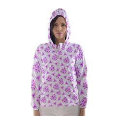 Sweet Doodle Pattern Pink Hooded Wind Breaker (women)