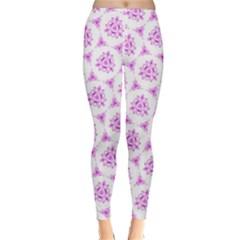 Sweet Doodle Pattern Pink Classic Winter Leggings