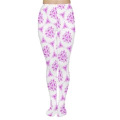Sweet Doodle Pattern Pink Women s Tights