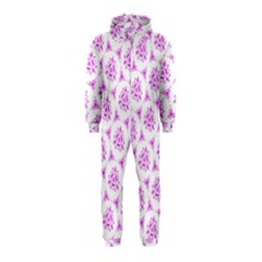 Sweet Doodle Pattern Pink Hooded Jumpsuit (kids)