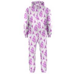Sweet Doodle Pattern Pink Hooded Jumpsuit (men)