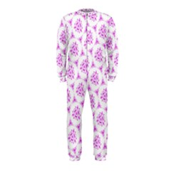 Sweet Doodle Pattern Pink Onepiece Jumpsuit (kids)
