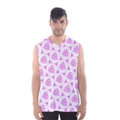 Sweet Doodle Pattern Pink Men s Basketball Tank Top