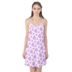 Sweet Doodle Pattern Pink Camis Nightgown