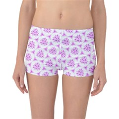 Sweet Doodle Pattern Pink Reversible Bikini Bottoms