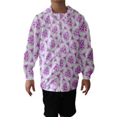 Sweet Doodle Pattern Pink Hooded Wind Breaker (kids)