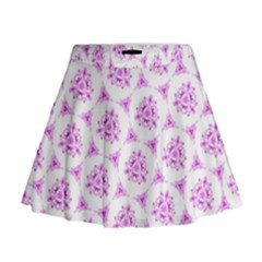 Sweet Doodle Pattern Pink Mini Flare Skirt